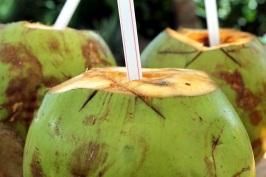 Long Walking Take Coconut water